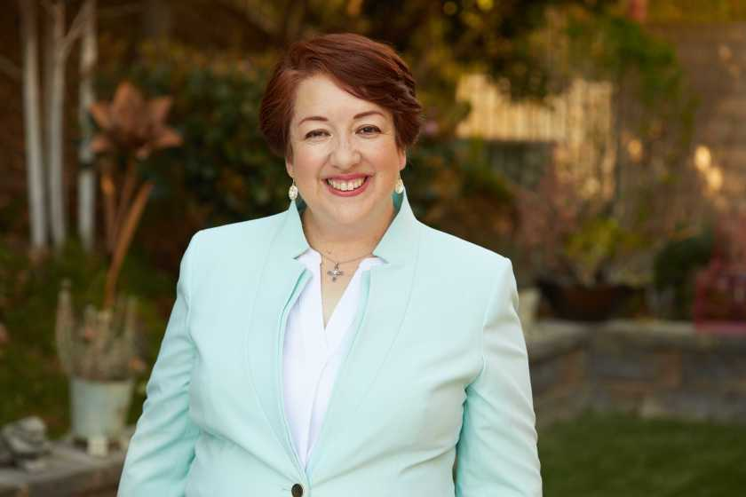 Simi Valley City Council Member Ruth Luevanos is running in the 25th Congressional District, the seat held by Rep. Mike Garcia. (Ty Chen / Luevanos campaign via Los Angeles Times)