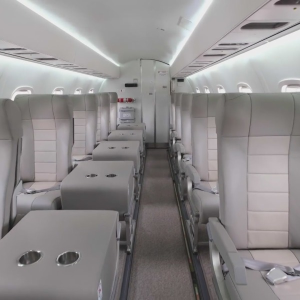 The interior of a JSX plane is seen in an undated photo. (JSX)