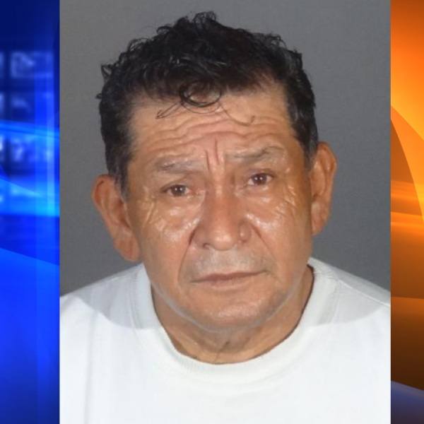 Jorge Alberto Garcia-Zuniga is seen in an undated booking photo released by the El Monte Police Department on April 14, 2021.