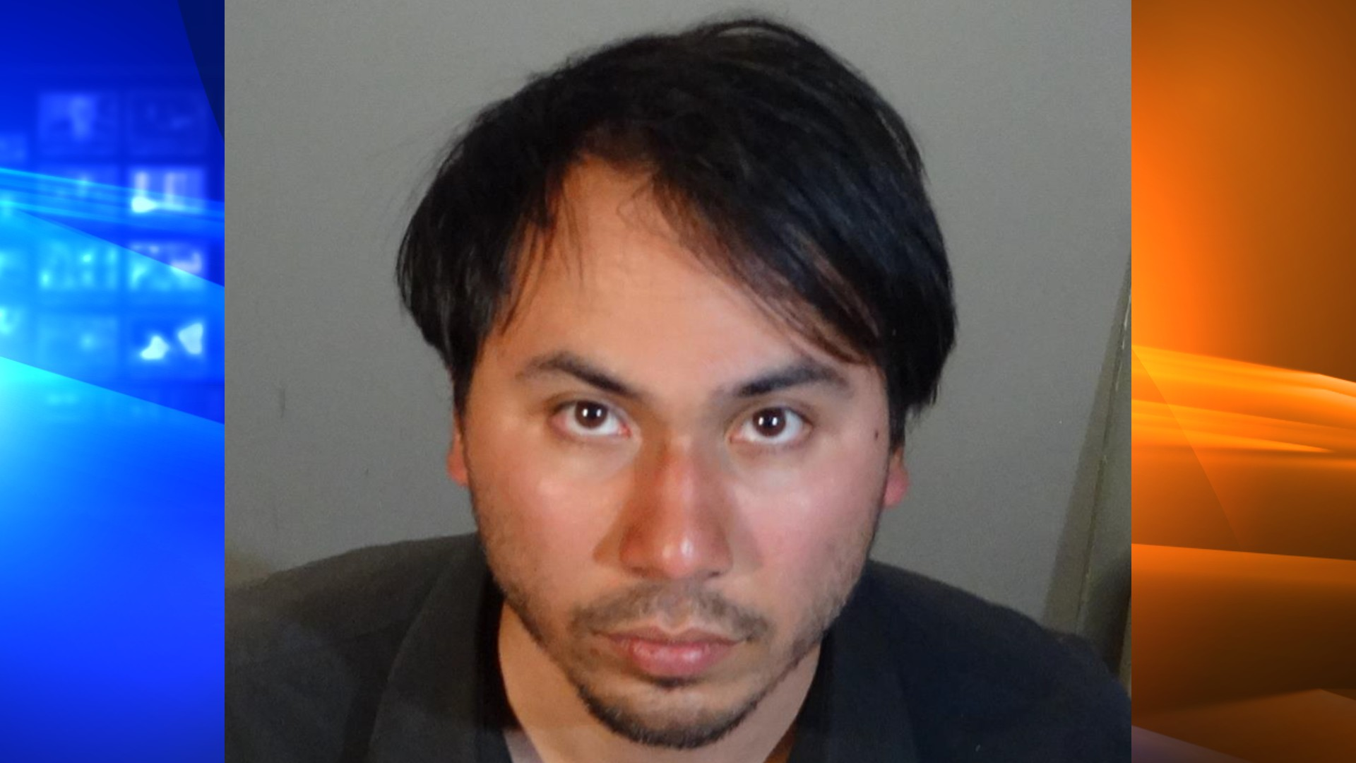 Adrian Gudino is seen in a booking photo released on May 13, 2021, by the Redondo Beach Police Department.