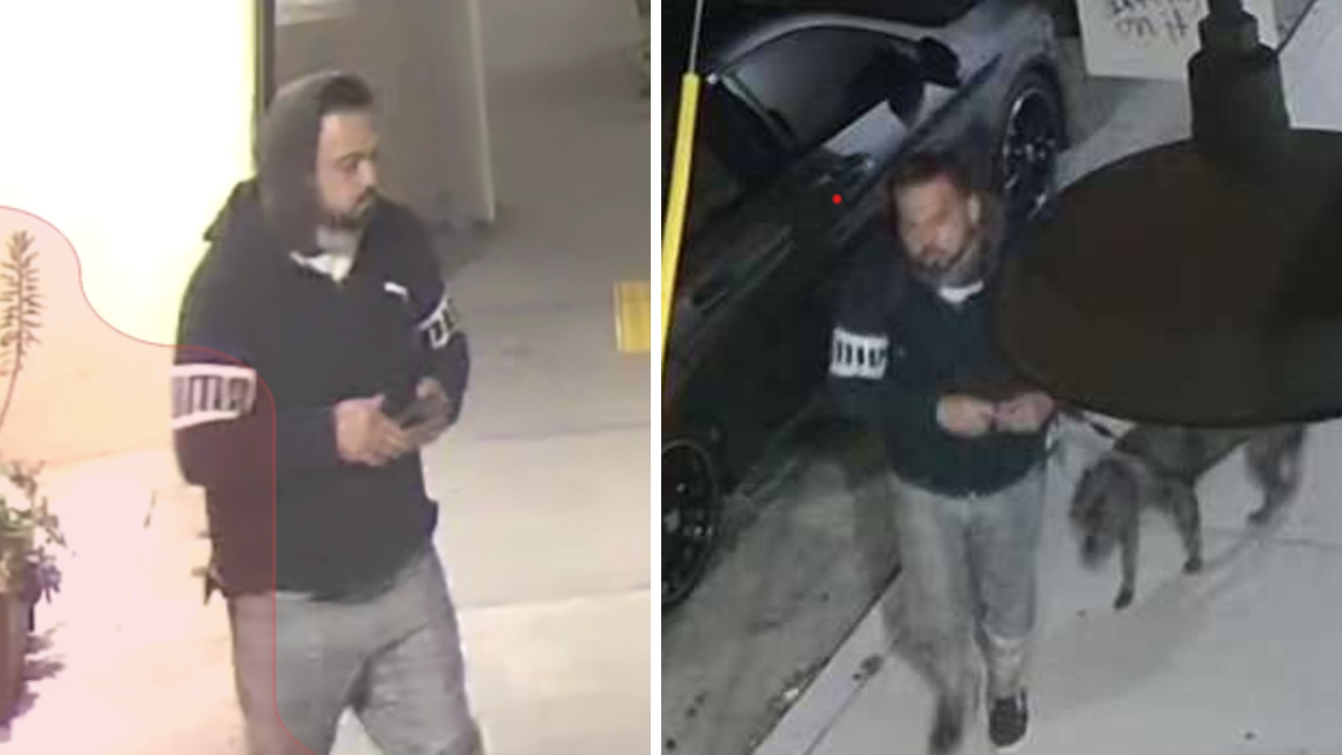Authorities released stills from surveillance video in hopes of identifying a man caught on video vandalizing several businesses in Port Hueneme on May 21, 2021.