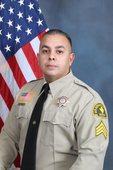 Sergeant Dominic Vaca is seen in a photo shared by the San Bernardino County Sheriff's Department on May 31, 2021.