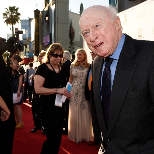 """Norman Lloyd poses before a 50th anniversary screening of the film """"The Sound of Music"""" at the opening night gala of the TCM Classic Film Festival on March 26, 2015, in Los Angeles.(Chris Pizzello/Invision/AP, File)"""