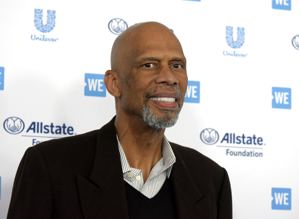 Kareem Abdul-Jabbar arrives at WE Day California at The Forum on Thursday, April 25, 2019, in Inglewood, Calif. (Photo by Richard Shotwell/Invision/AP, File)