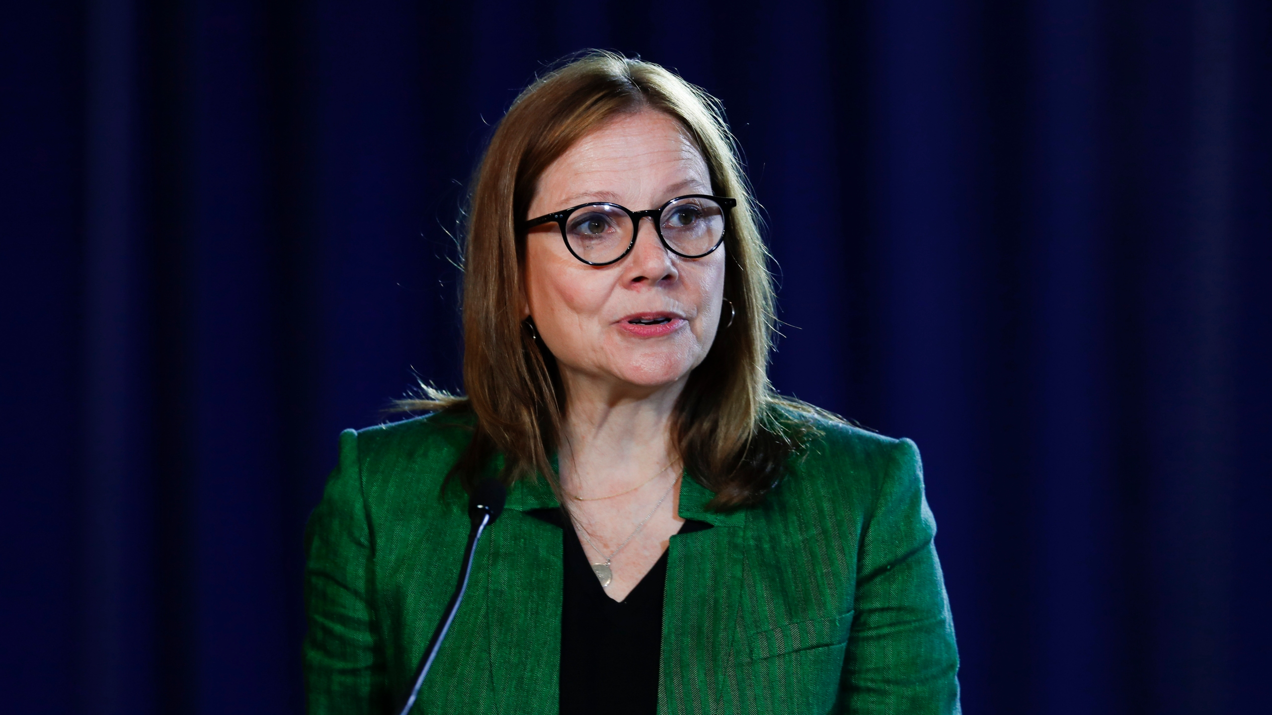 In this July 16, 2019, file photo General Motors CEO Mary Barra speaks during the opening of their contract talks with the United Auto Workers in Detroit. Most of the women running the biggest U.S. companies saw their pay increase last year, 2020, even as the pandemic hammered the economy and many of their businesses. (AP Photo/Paul Sancya, File)