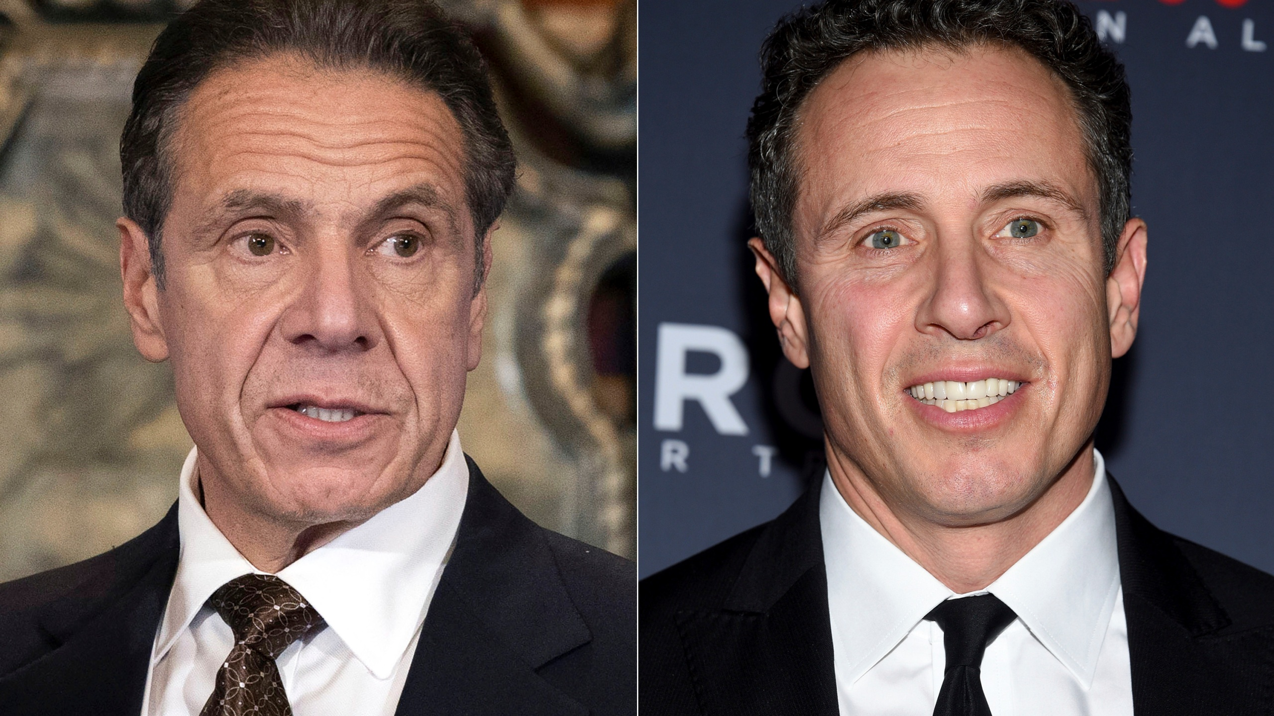 """New York Gov. Andrew M. Cuomo appears during a news conference about the COVID-19at the State Capitol in Albany, N.Y., on Dec. 3, 2020, left, and CNN anchor Chris Cuomo attends the 12th annual CNN Heroes: An All-Star Tribute at the American Museum of Natural History in New York on Dec. 9, 2018. CNN said Thursday, May 20, 2021 it was """"inappropriate"""" for anchor Chris Cuomo to have been involved in phone calls with the staff of his brother, New York Gov. Andrew Cuomo, where strategies on how the governor should respond to sexual harassment allegations were allegedly discussed.(Mike Groll/Office of Governor of Andrew M. Cuomo via AP, left, and Evan Agostini/Invision/AP)"""