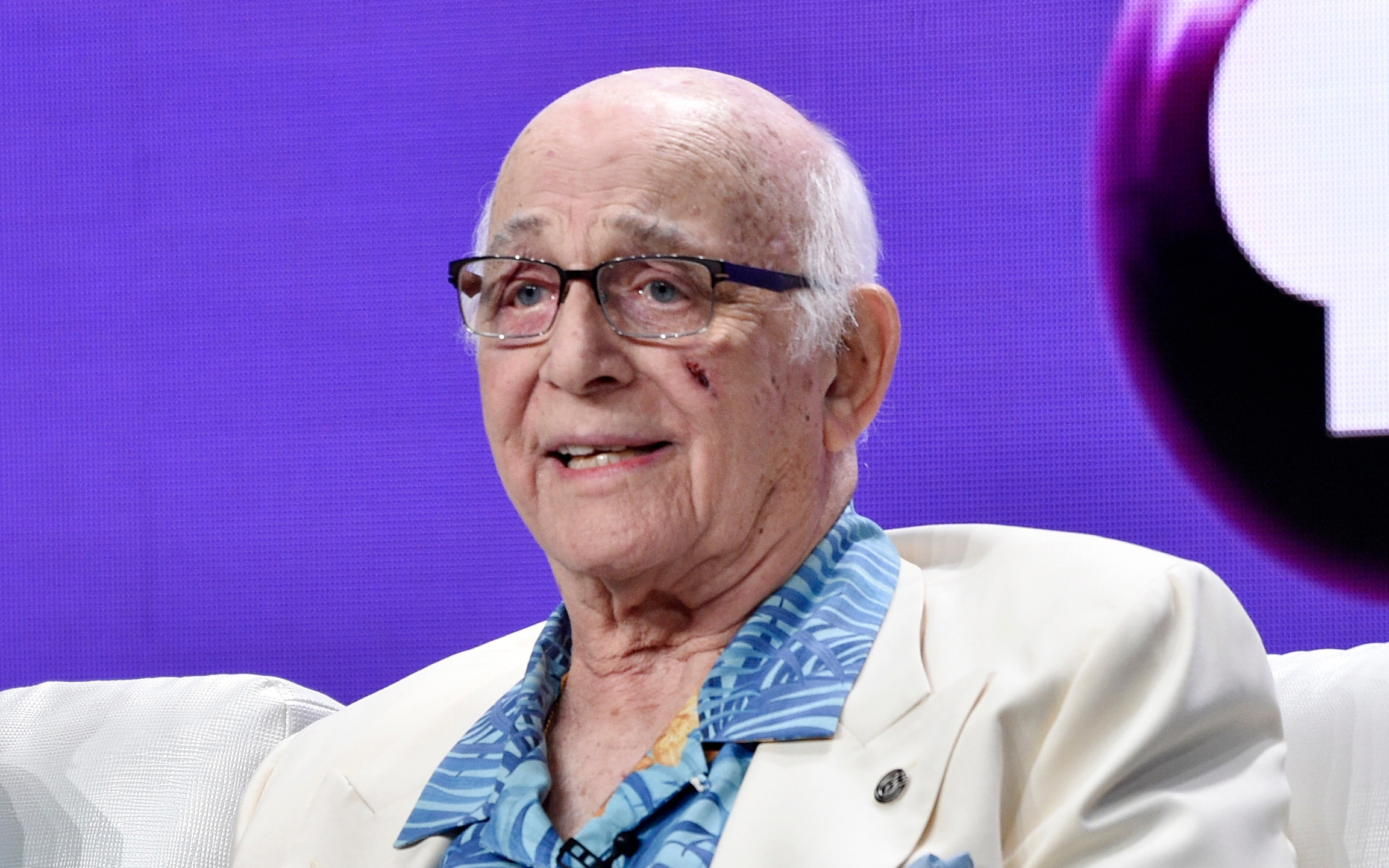 """In this July 31, 2018 file photo shows actor Gavin MacLeod during a panel discussion on the PBS special """"Betty White: First Lady of Television"""" during the 2018 Television Critics Association Summer Press Tour at the Beverly Hilton in Beverly Hills, Calif. (Chris Pizzello/Invision/AP, File)"""