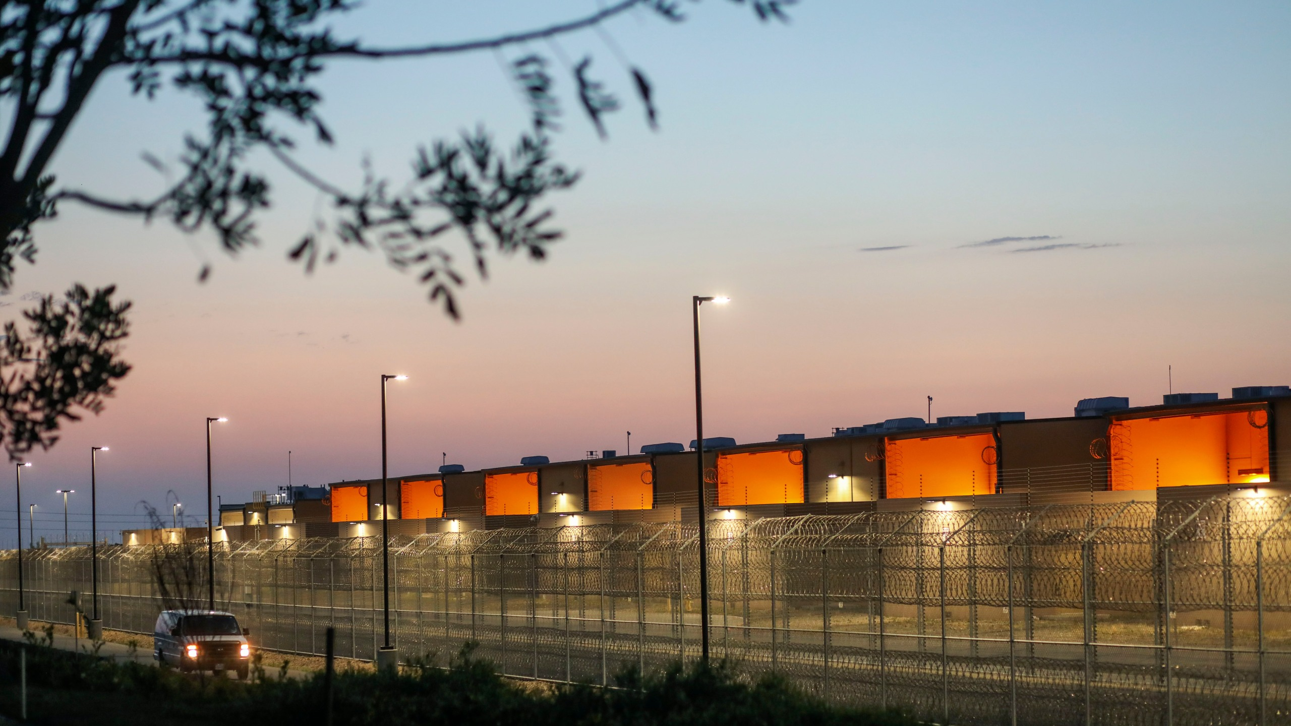 The Otay Mesa Detention Center east of San Diego near the Mexico border is seen on May 9, 2020. (Sandy Huffaker / AFP / Getty Images)
