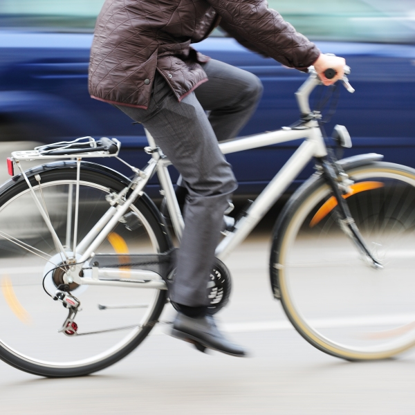 A bicyclist in seen in an undated file photo. (Getty Images)