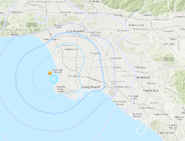 A magnitude 3.7 earthquake hit near Hermosa Beach Saturday afternoon.