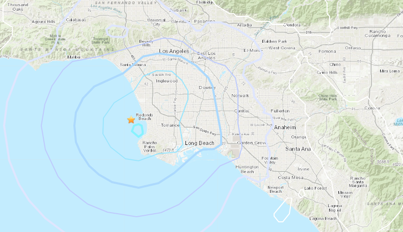 A magnitude 3.7 earthquake hit near Hermosa Beach Saturday afternoon.