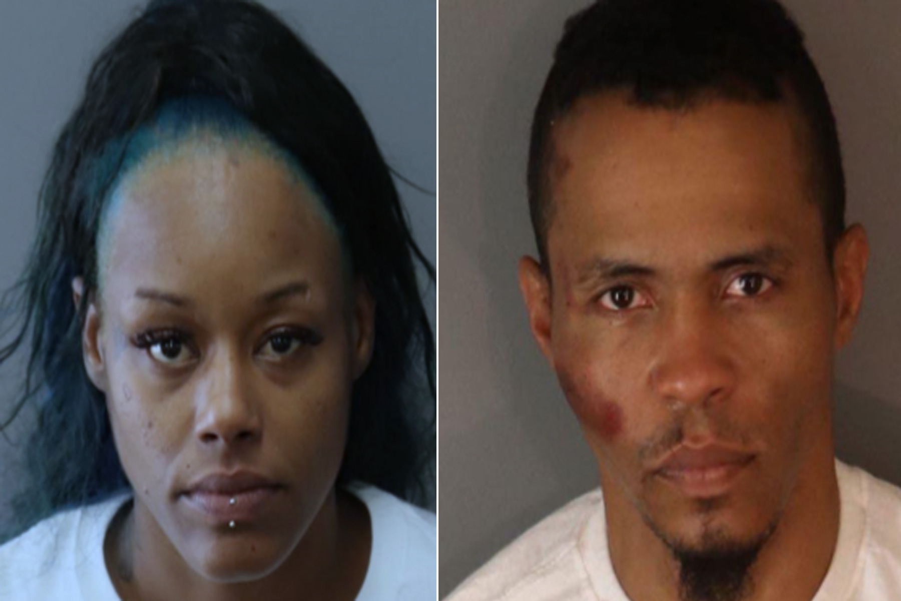 Lanika Shantel Williams (L) and Jermaine Lavelle Wheeler (R) are seen in photos released by the Riverside Police Department on May 18, 2021.