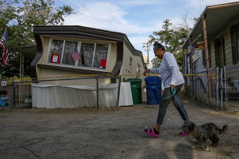 Earthquake damage in Ridgecrest, Calif., in 2019.(Irfan Khan / Los Angeles Times)