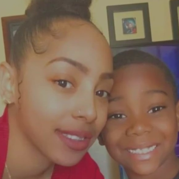 Tamika Haynes and her 8-year-old son are seen in an undated photo provided to KTLA by family.