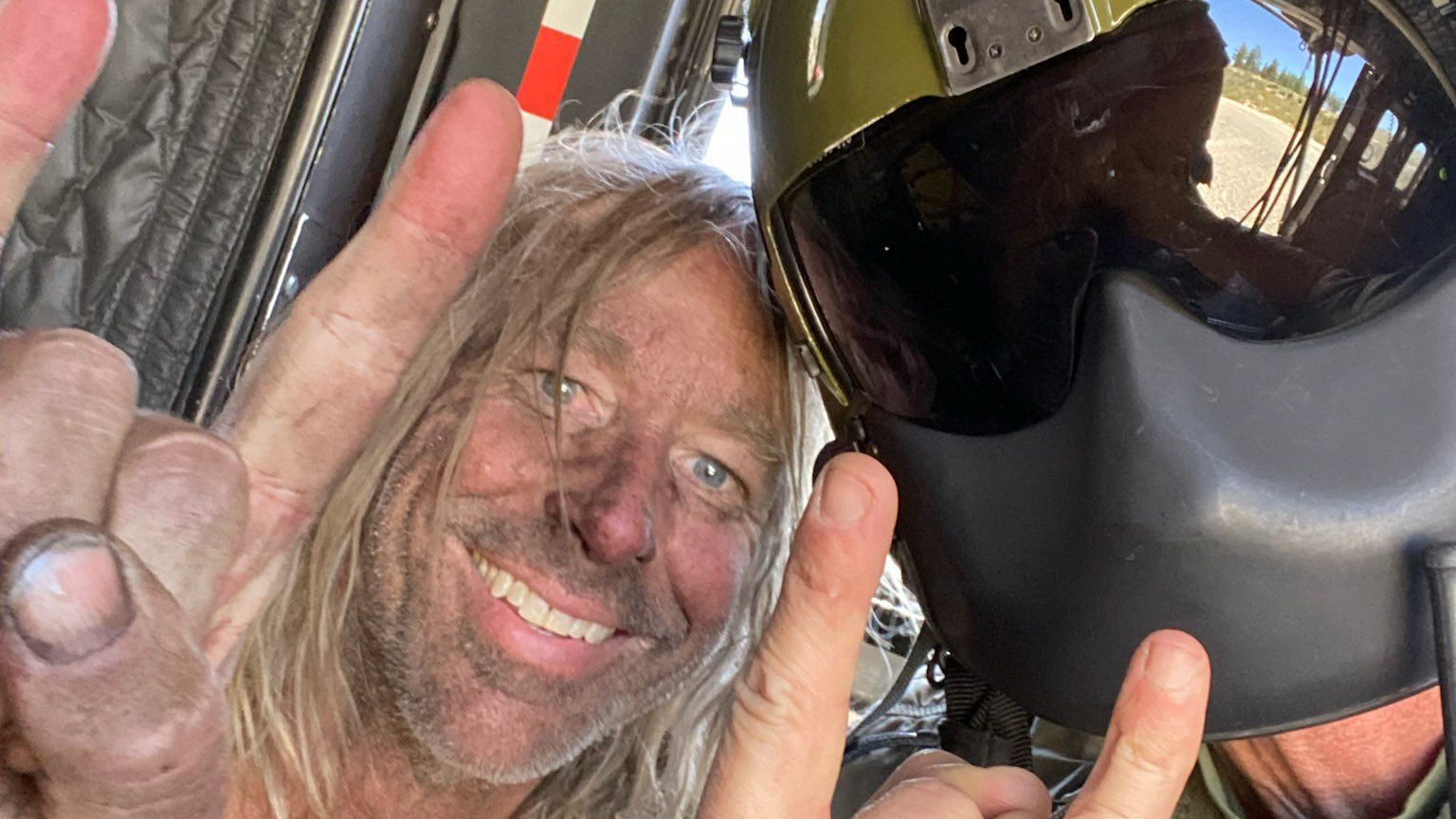 George Null is seen following his rescue on May 19, 2021, after being lost for five days in Angeles National Forest in a photo released by the Los Angeles County Sheriff's Department.