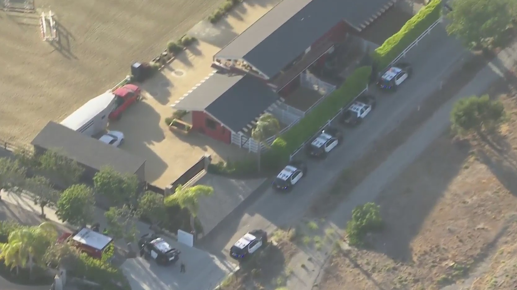 Authorities respond to investigate a shooting death in Malibu on May 21, 2021. (KTLA)