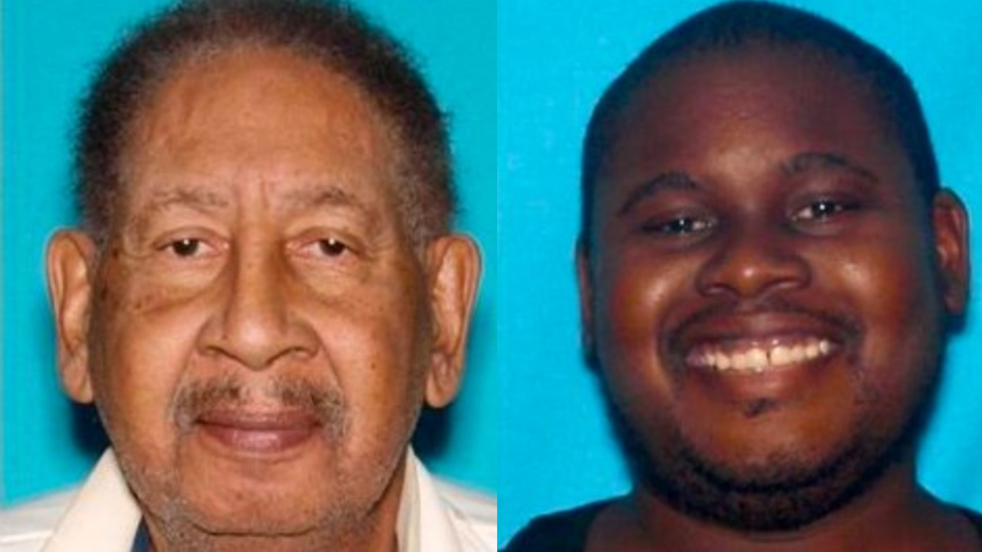 From left to right, Stanley Warren, 73, and Tarik Warren, 39, appear in photos released by the San Bernardino Police Department. Tarik Warren is accused of killing his father, Stanley, on April 29, 2021.
