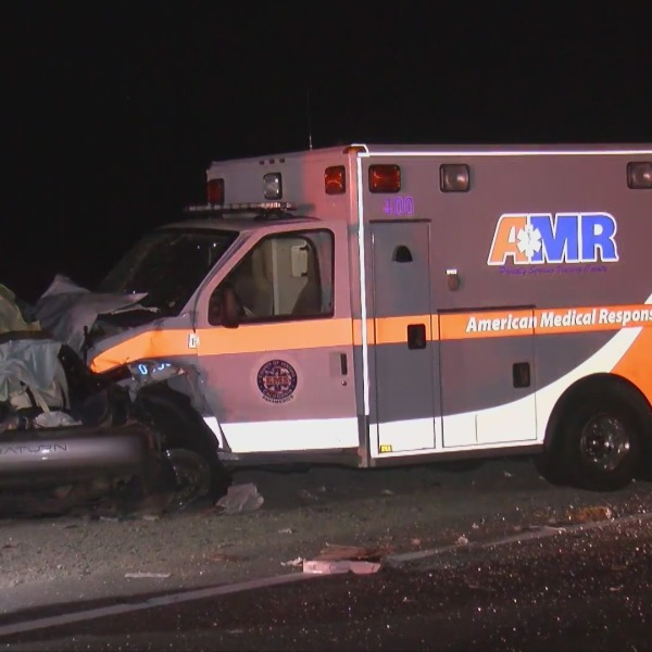 One person was killed in a collision involving an Ambulance in Moorpark on May 4, 2021. (OnScene.TV)