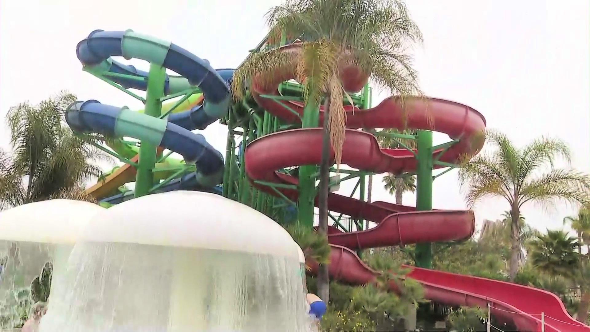 Six Flags Hurricane Harbor seen on MAY 15, 2021. (KTLA)
