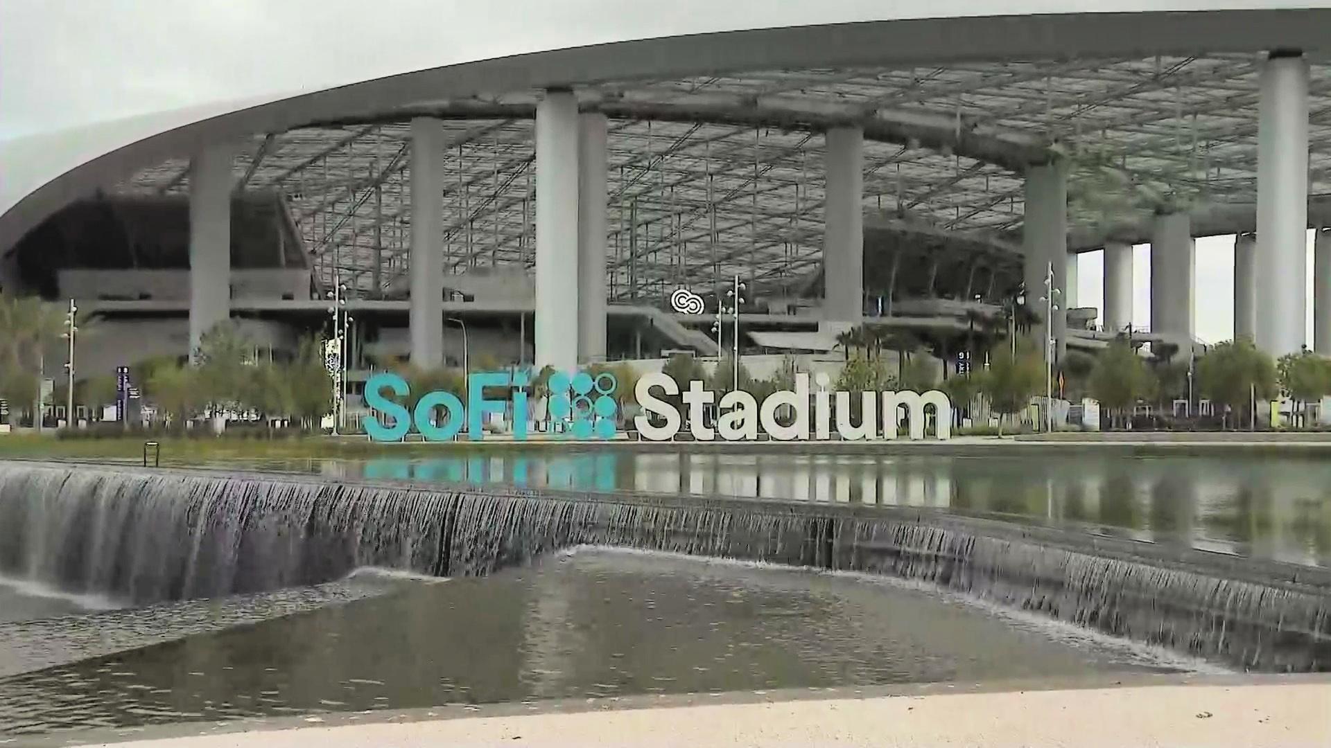 SoFi Stadium is seen on May 2, 2021. (KTLA)
