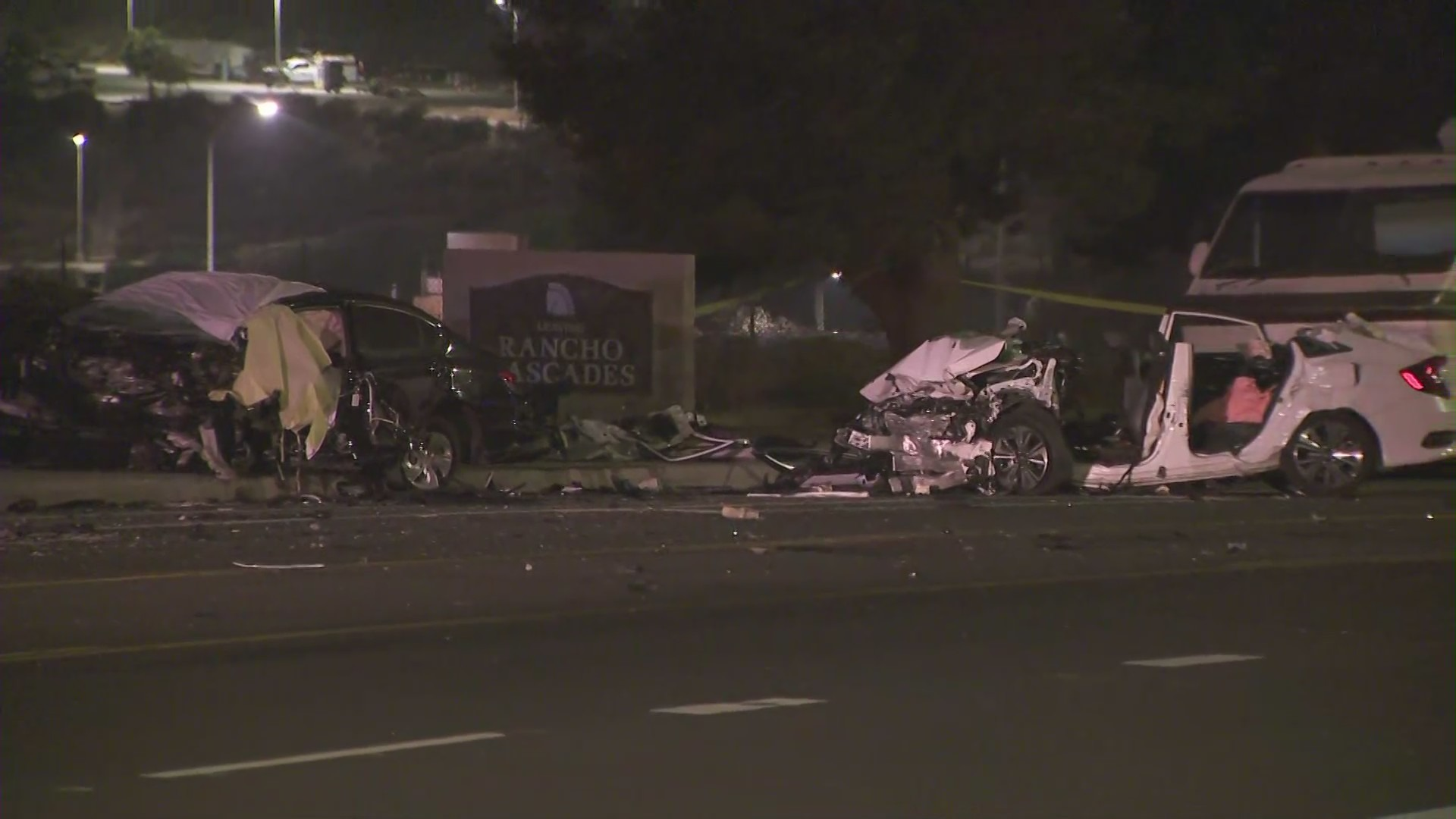 One person was declared dead in a fatal crash in Sylmar Sunday night.