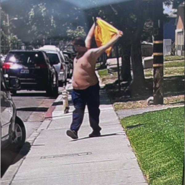A parent caught a photo of a suspected peeper in Montclair on May 12, 2021.