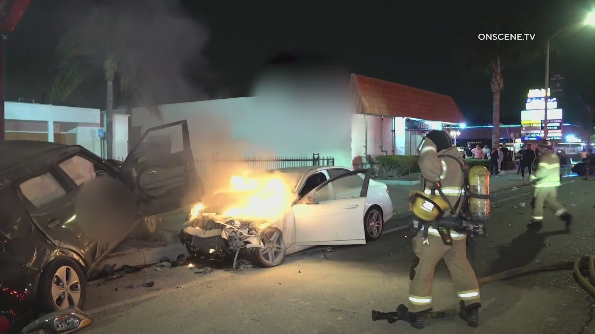 Emergency crews respond to a fatal hit-and-run crash in Anaheim on May 4, 2021. (OnScene.TV)