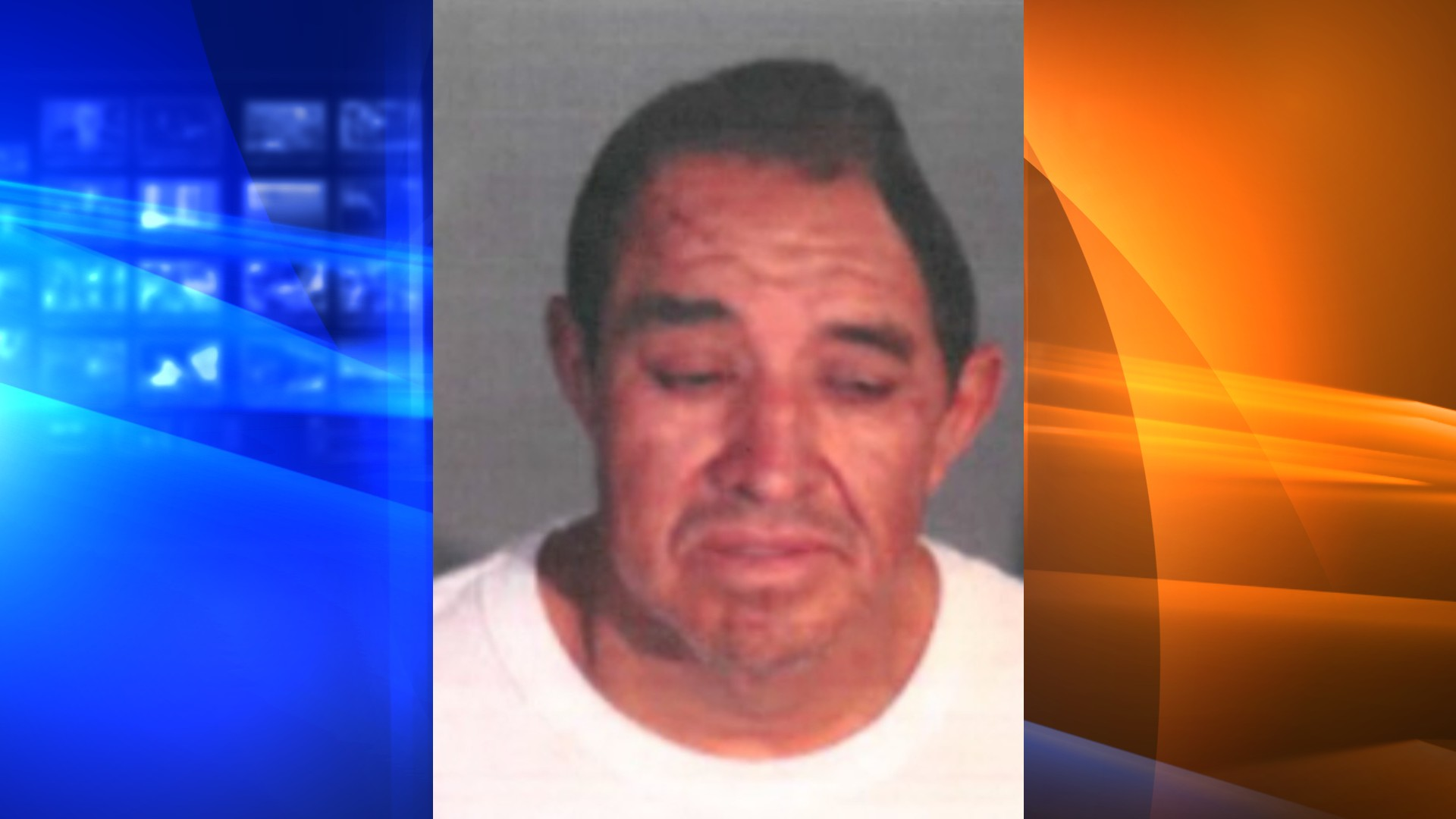 Ramon Santos Rodriguez is seen in a booking photo released by the Los Angeles Fire Department.