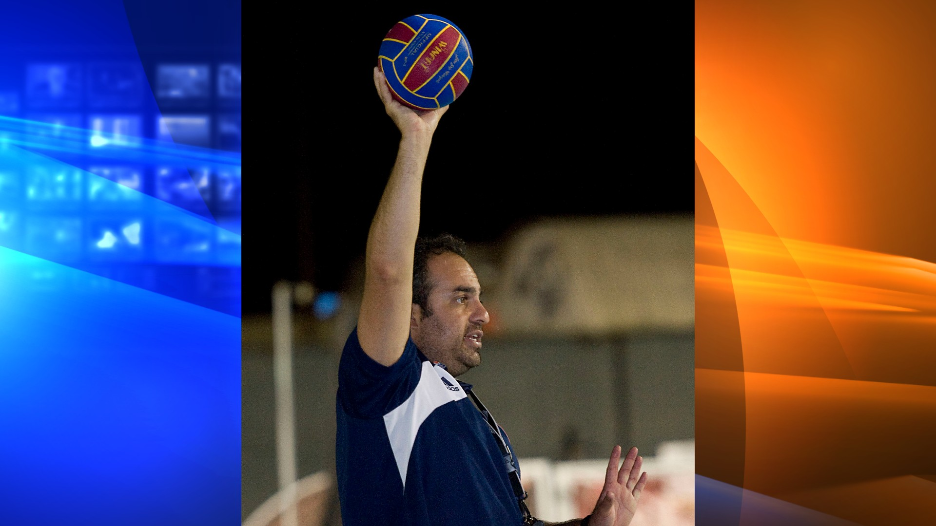 In this Sept. 23, 2013, file photo, Bahram Hojreh coaches youngsters at at the USA Water Polo National Training Center in Los Alamitos, Calif. (Rose Palmisano/The Orange County Register via AP, File)
