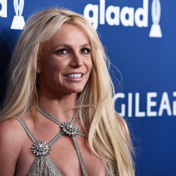 Britney Spears arrives at the 29th annual GLAAD Media Awards in Beverly Hills on April 12, 2018. (Chris Pizzello / Invision / Associated Press)