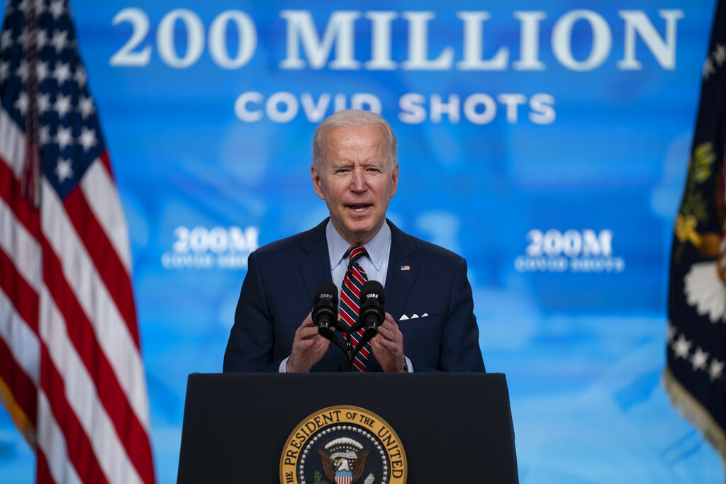 In this April 21, 2021, file photo, President Joe Biden speaks about COVID-19 vaccinations at the White House, in Washington. (AP Photo/Evan Vucci, File)