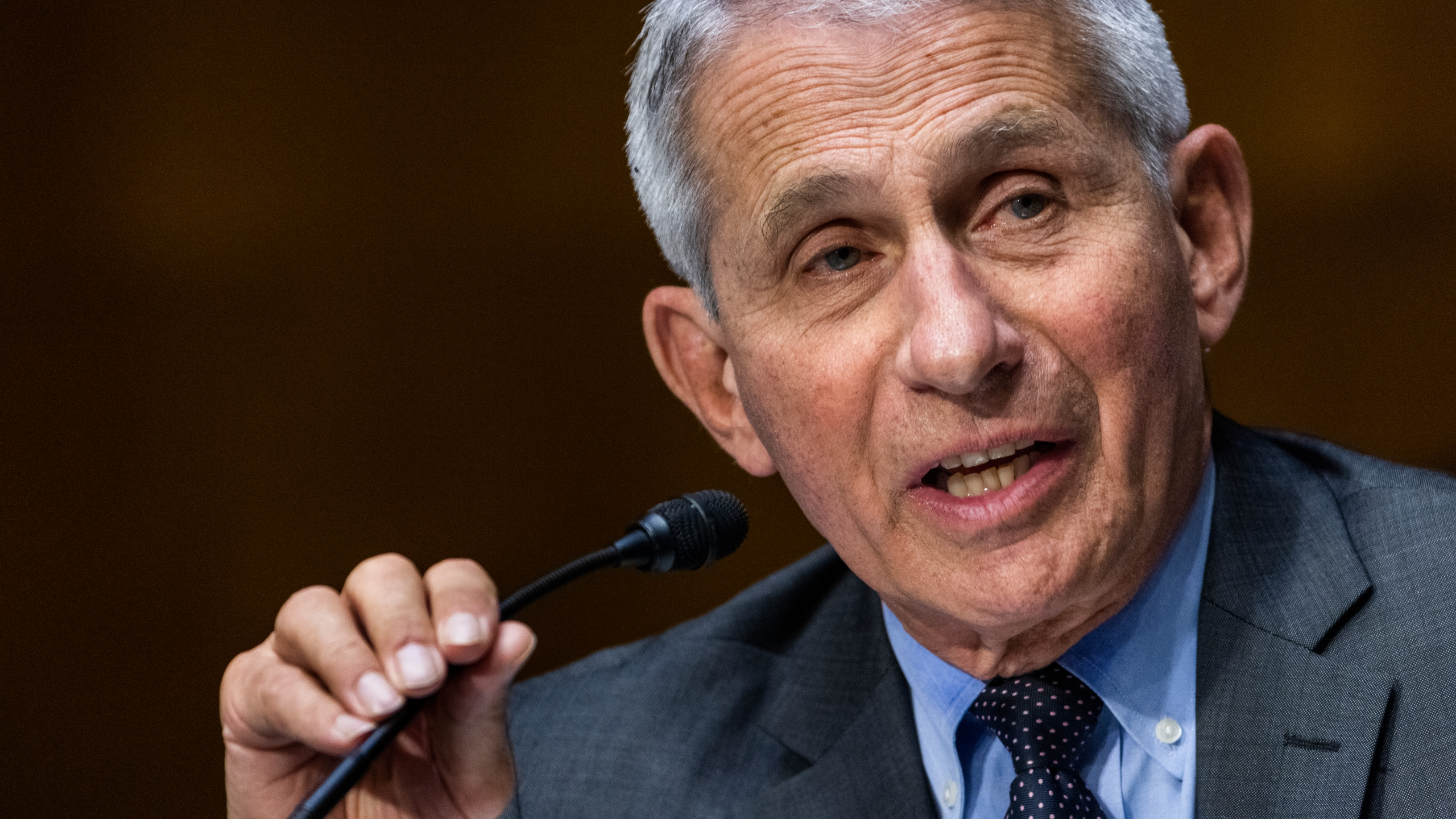In this May 11, 2021, file photo, Dr. Anthony Fauci, director of the National Institute of Allergy and Infectious Diseases, speaks during hearing on Capitol Hill in Washington. The United States is devoting more than $3 billion to advance development of antiviral pills for COVID-19, according to an official briefed on the matter. The pills, which would be used to minimize symptoms after infection, are in development and could begin arriving by year's end, pending the completion of clinical trials. (Jim Lo Scalzo/Pool Photo via AP, File)