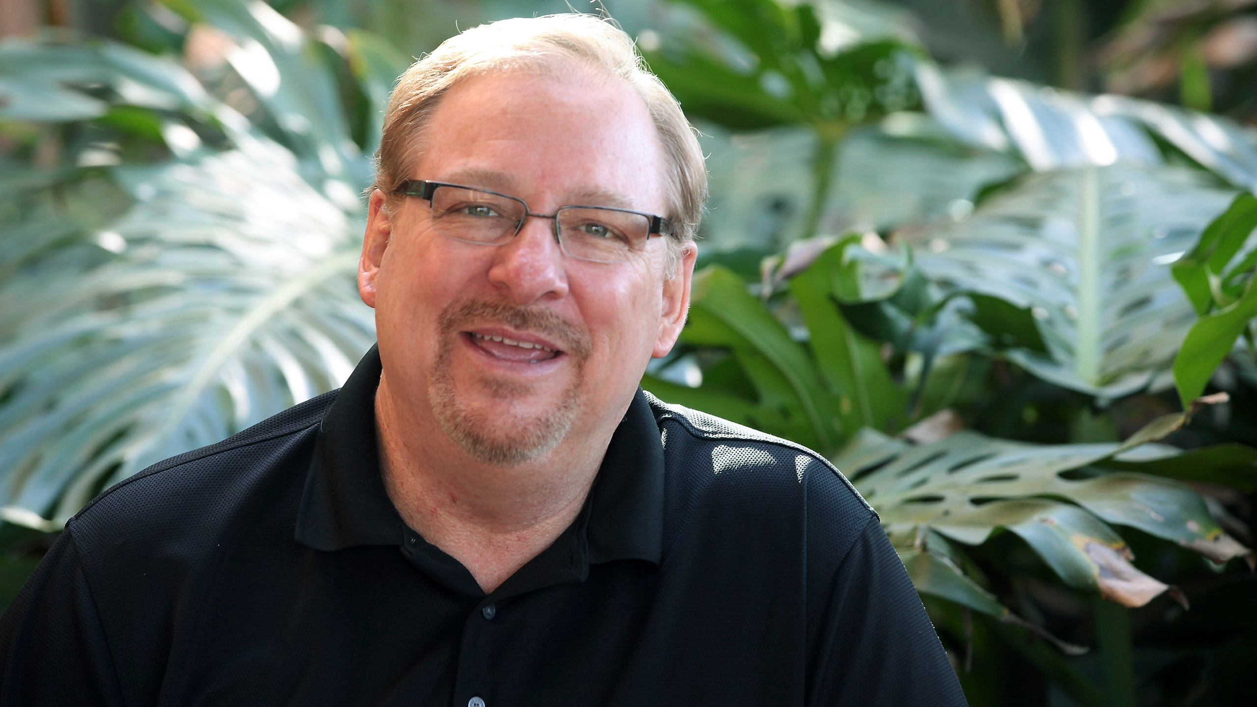 In this Feb. 24, 2014, file photo, Saddleback Church founder and Senior Pastor Rick Warren poses for a photo at the Saddleback Church in Lake Forest, Calif. (AP Photo/Nick Ut, File)