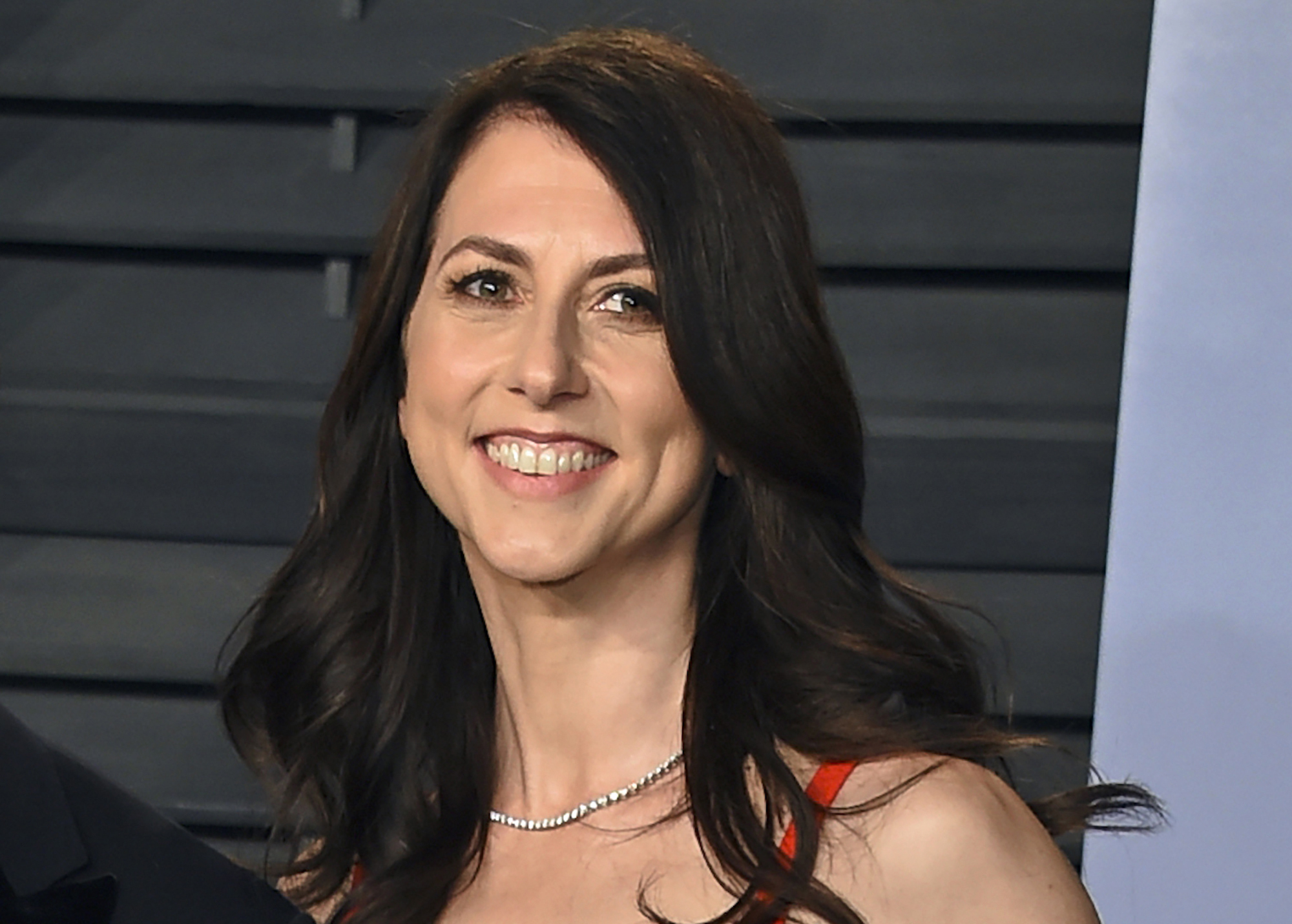 In this March 4, 2018, file photo, then-MacKenzie Bezos arrives at the Vanity Fair Oscar Party in Beverly Hills, Calif. (Photo by Evan Agostini/Invision/AP, File)