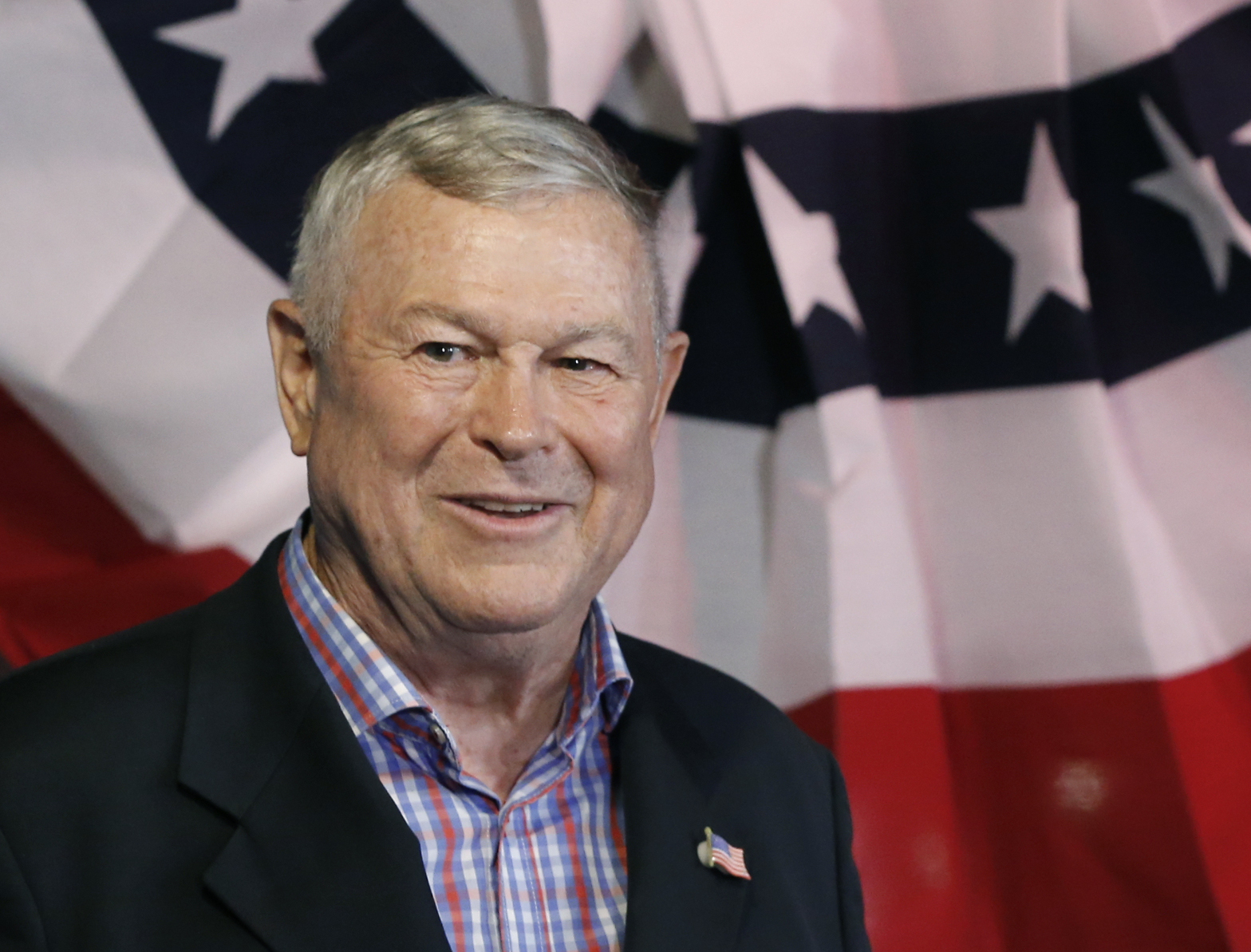 In this Nov. 6, 2018 file photo, U.S. Rep. Dana Rohrabacher, R-Costa Mesa, addresses members of the media and supporters waiting for elections results at the Skosh Monahan's Irish Pub in Costa Mesa, Calif. The former California representative confirmed he attended the riot at the U.S. Capitol on Jan. 6, 2021, after anonymous investigators online identified him in footage. He said he went to protest what he called a fraudulent election. (AP Photo/Damian Dovarganes, File)