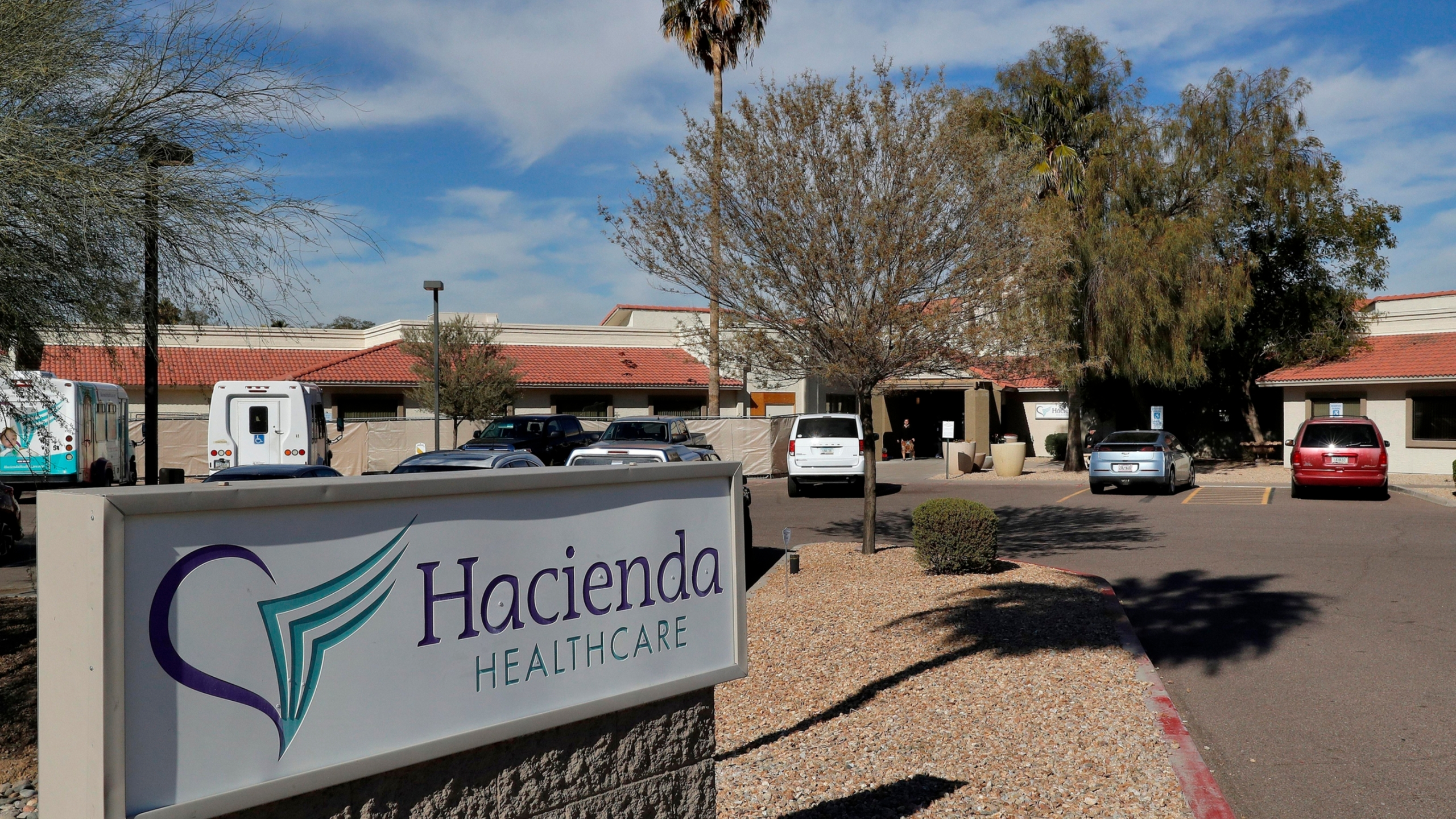 The Hacienda HealthCare facility in Phoenix, where an incapacitated woman was raped and later gave birth, is seen on Jan. 25, 2019.(Matt York / Associated Press)