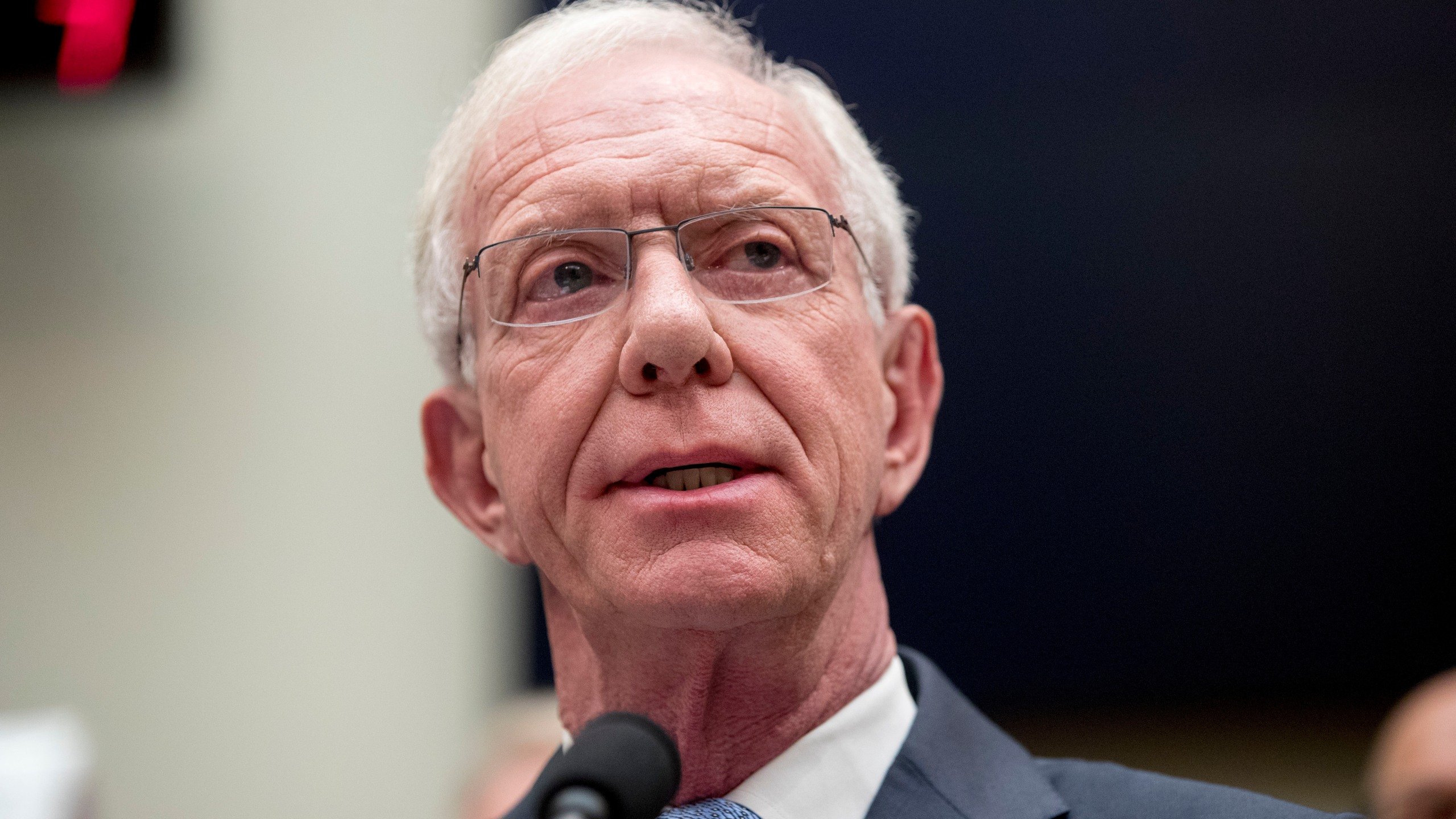 """In this June 19, 2019, file photo, Chesley """"Sully"""" Sullenberger speaks during a House Committee on Transportation and Infrastructure hearing on Capitol Hill in Washington. President Joe Biden has unveiled picks for several high-profile ambassadorial postings, turning to a group that includes career diplomats, political allies and an American aviation hero. Sullenberger has been named to serve on the Council of the International Civil Aviation Organization. (AP Photo/Andrew Harnik, File)"""