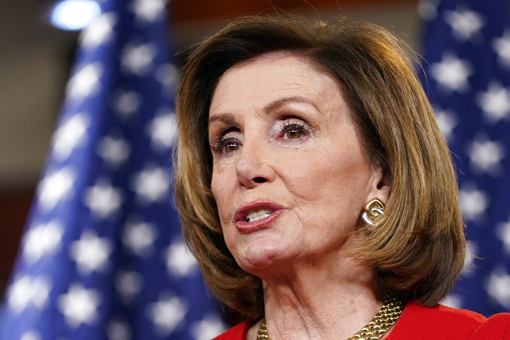 In this May 13, 2021, file photo, House Speaker Nancy Pelosi of Calif., speaks during a news conference on Capitol Hill in Washington. (AP Photo/Susan Walsh, File)