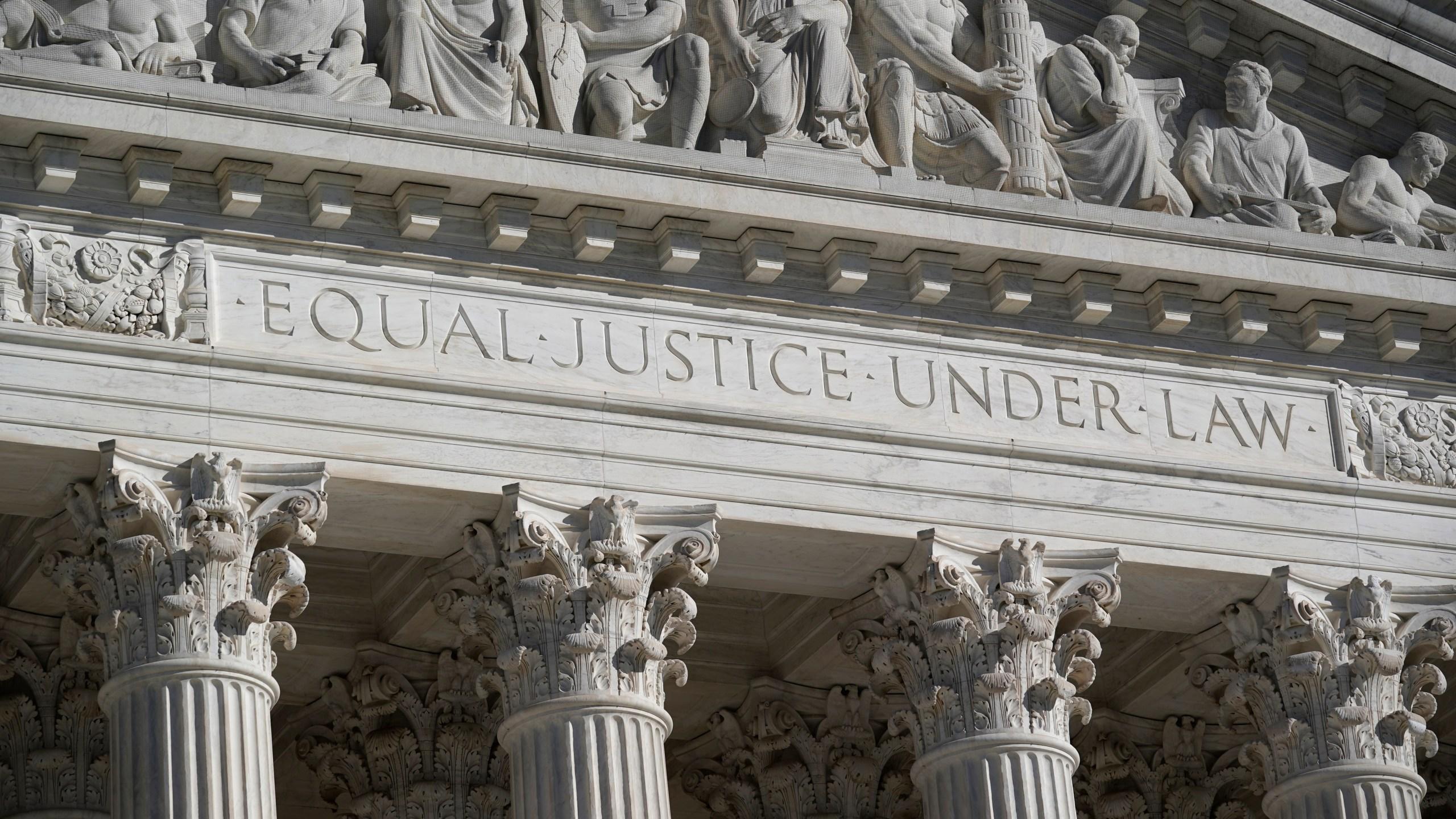 In this Nov. 4, 2020 file photo, the Supreme Court is seen in Washington. (AP Photo/J. Scott Applewhite, File)