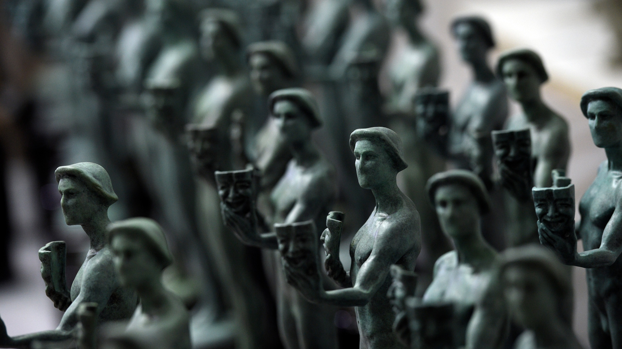 Finished Actor statuettes are displayed during the 25th annual Casting of the Screen Actors Guild Awards at American Fine Arts Foundry on Jan. 15, 2019, in Burbank, Calif. (Photo by Chris Pizzello/Invision/AP, File)
