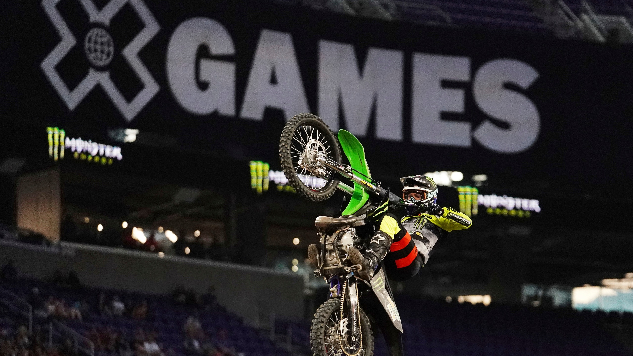 In this July 21, 2018, file photo, Jackson Strong competes in the Monster Energy Moto X Best Trick Final at the X Games in Minneapolis. After taking a year off due to the coronavirus pandemic, X Games is returning to its roots. BMX, Moto X and skateboarding will be contested at three Southern California training locations. (Anthony Souffle/Star Tribune via Associated Press)