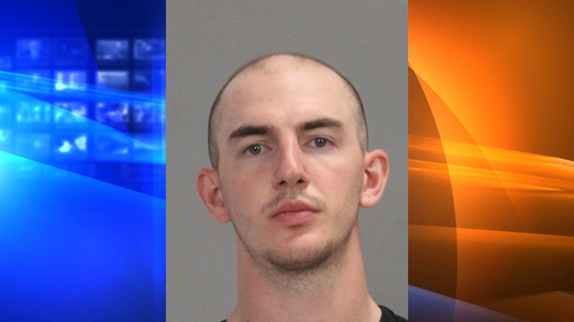 Alex Caruso is seen in a booking photo released by the Brazos County Sheriff's Office.