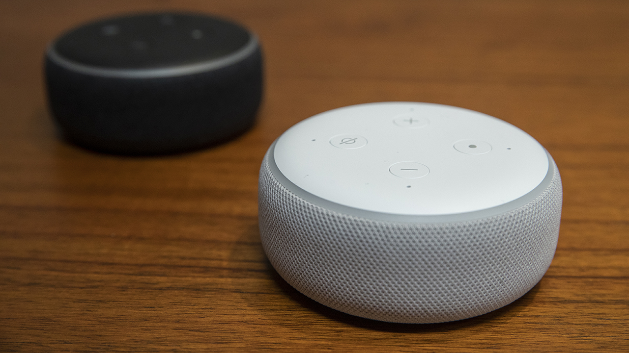 Amazon Echo devices are seen in an undated file photo. (Stephen Brashear/Getty Images)