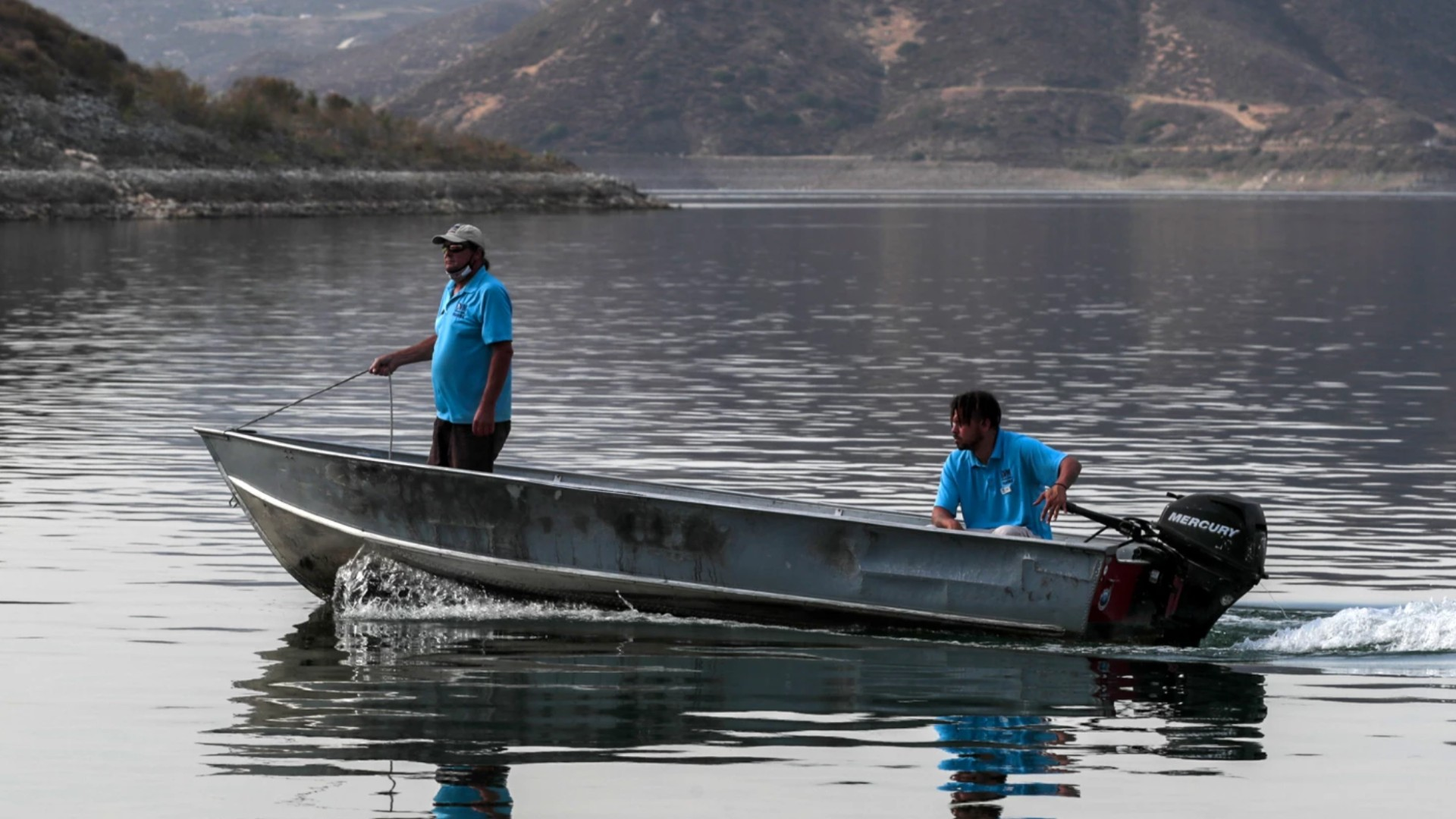 Diamond Valley Lake in Riverside County is the major drinking water storage facility for 18 million Southern Californians, as well as an insurance policy against dry times.(Robert Gauthier / Los Angeles Times)