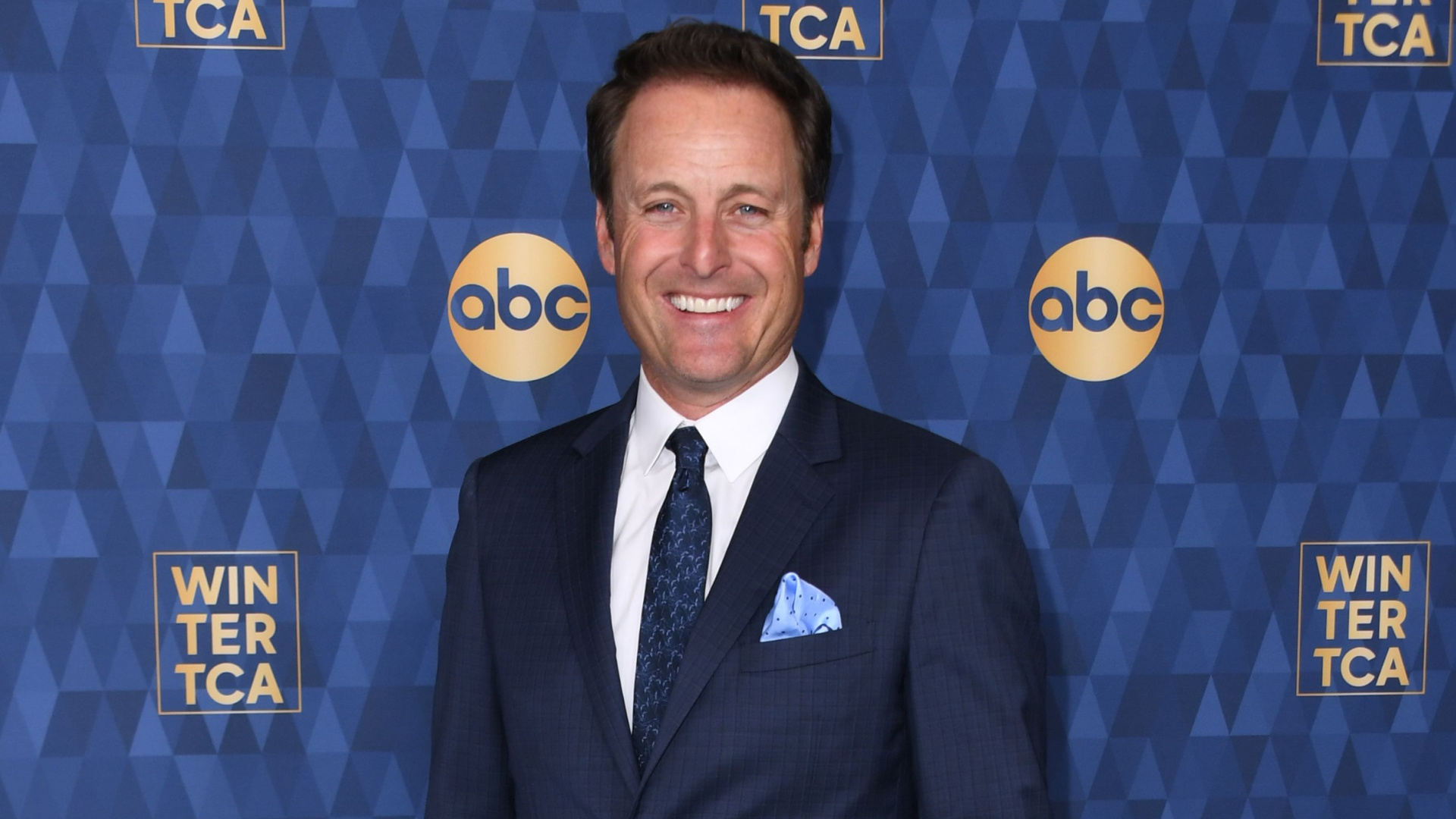 Chris Harrison attends ABC's Winter TCA 2020 Press Tour in Pasadena on Jan. 8, 2020. (VALERIE MACON/AFP via Getty Images)