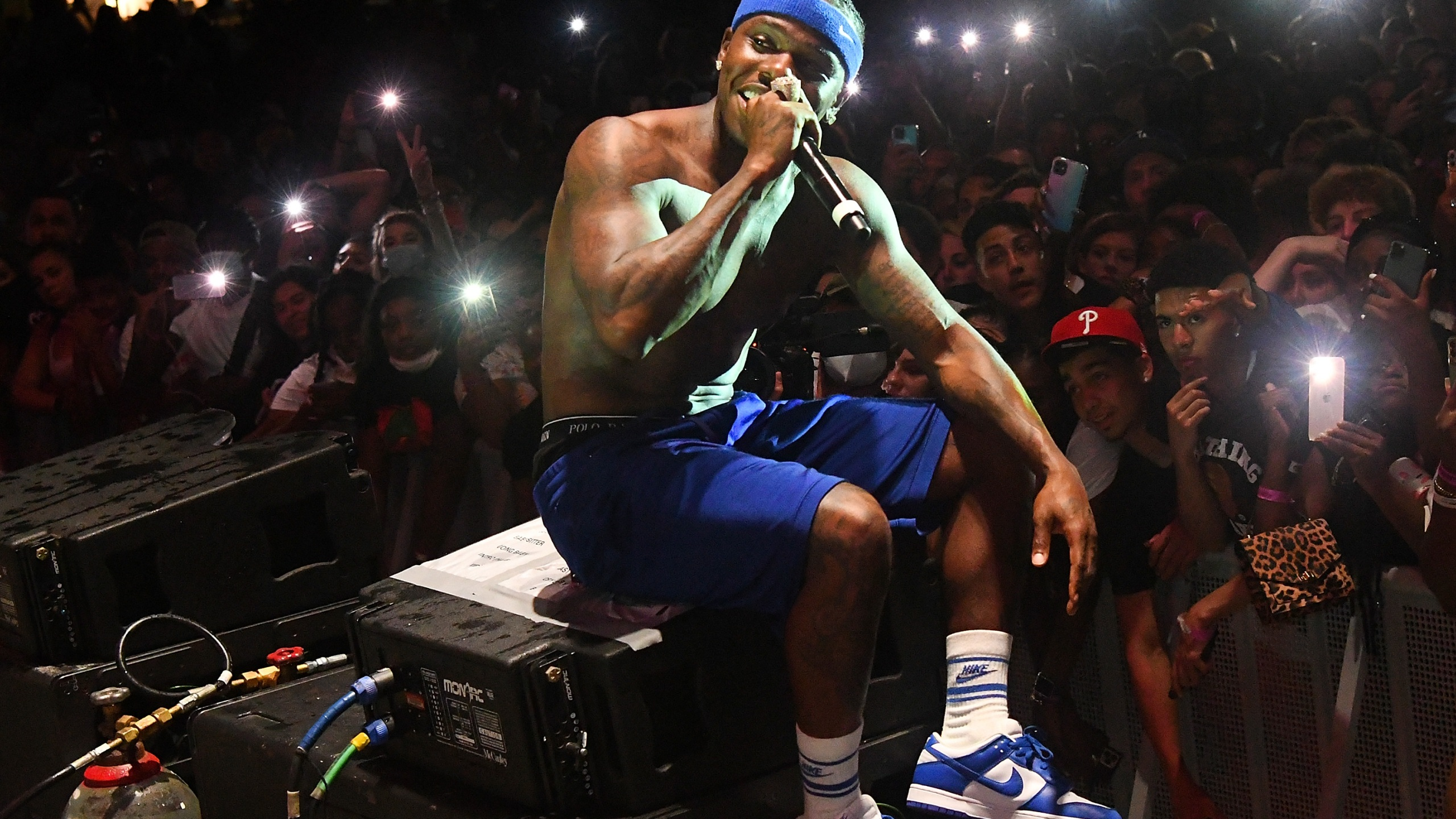 DaBaby performs during DaBaby + Friends Concert at Orlando Amphitheater on April 17, 2021 in Orlando, Florida. (Gerardo Mora/Getty Images for Interscope)