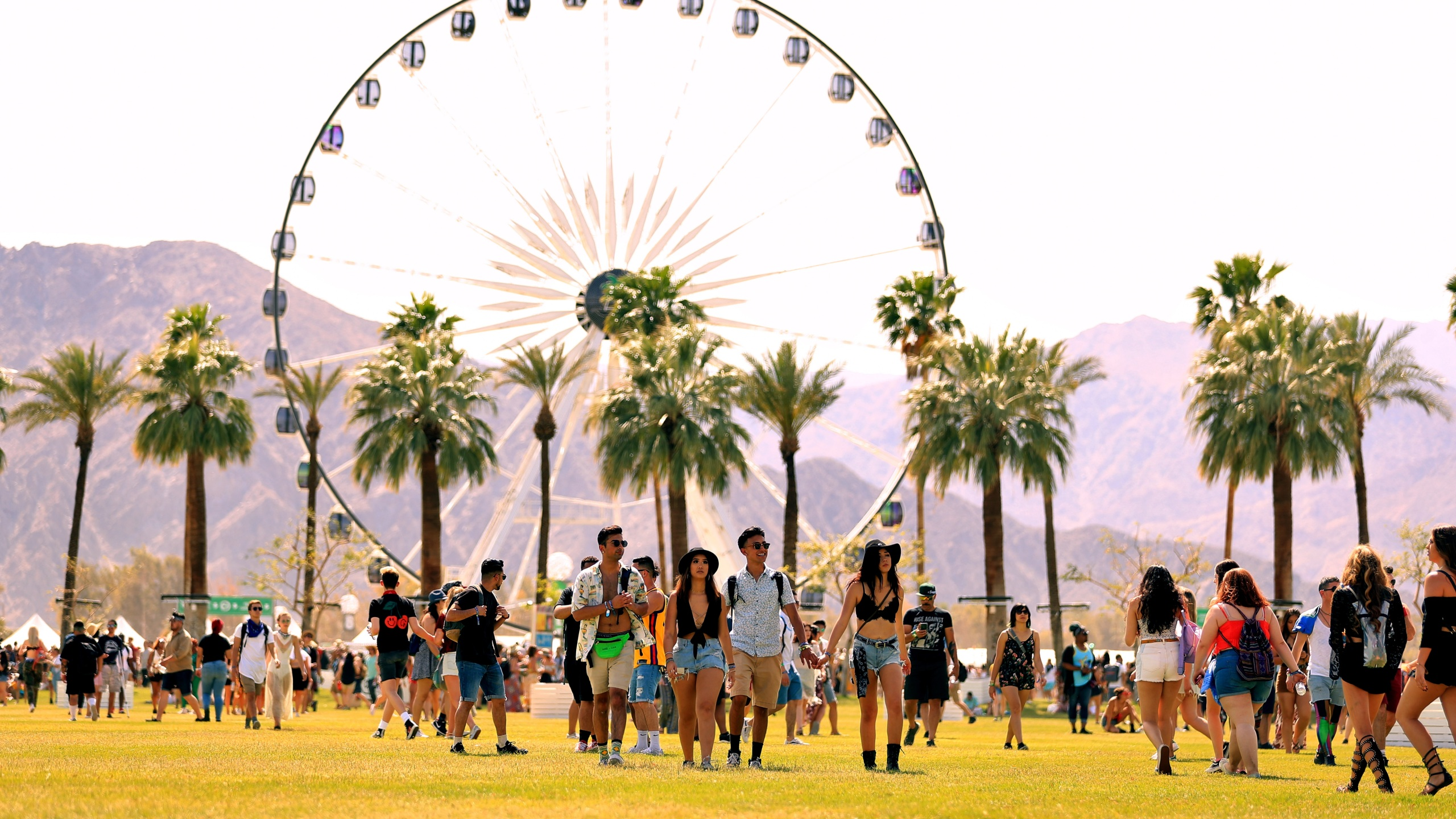 Festivalgoers attend the 2018 Coachella Valley Music And Arts Festival at the Empire Polo Field on April 13, 2018, in Indio, California. (Christopher Polk/Getty Images for Coachella)