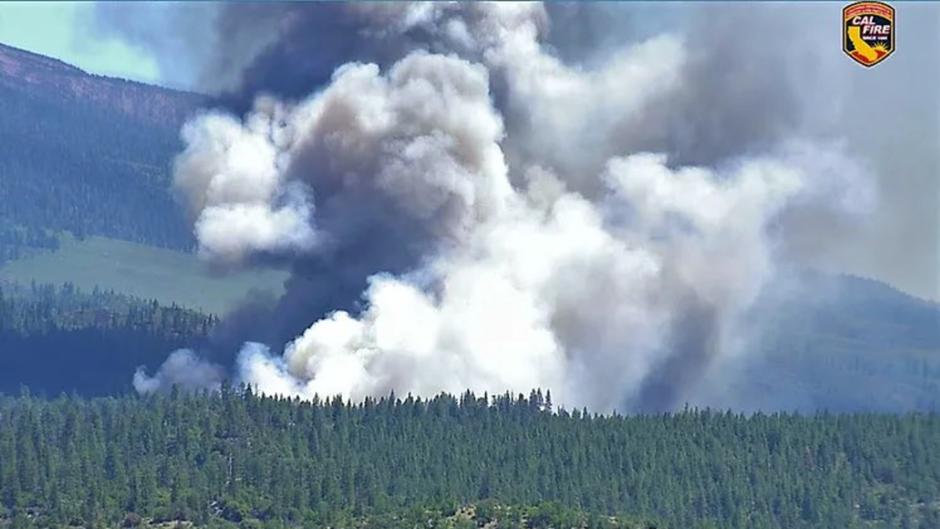 Cal Fire released this photo on June 27 of the Lava Fire, which is burning outside of Weed.