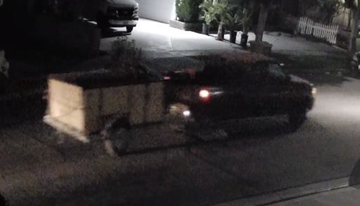 A truck that was seen in the area where a teen was fatally shot in Anaheim is shown in a photo provided by police on June 28, 2021.