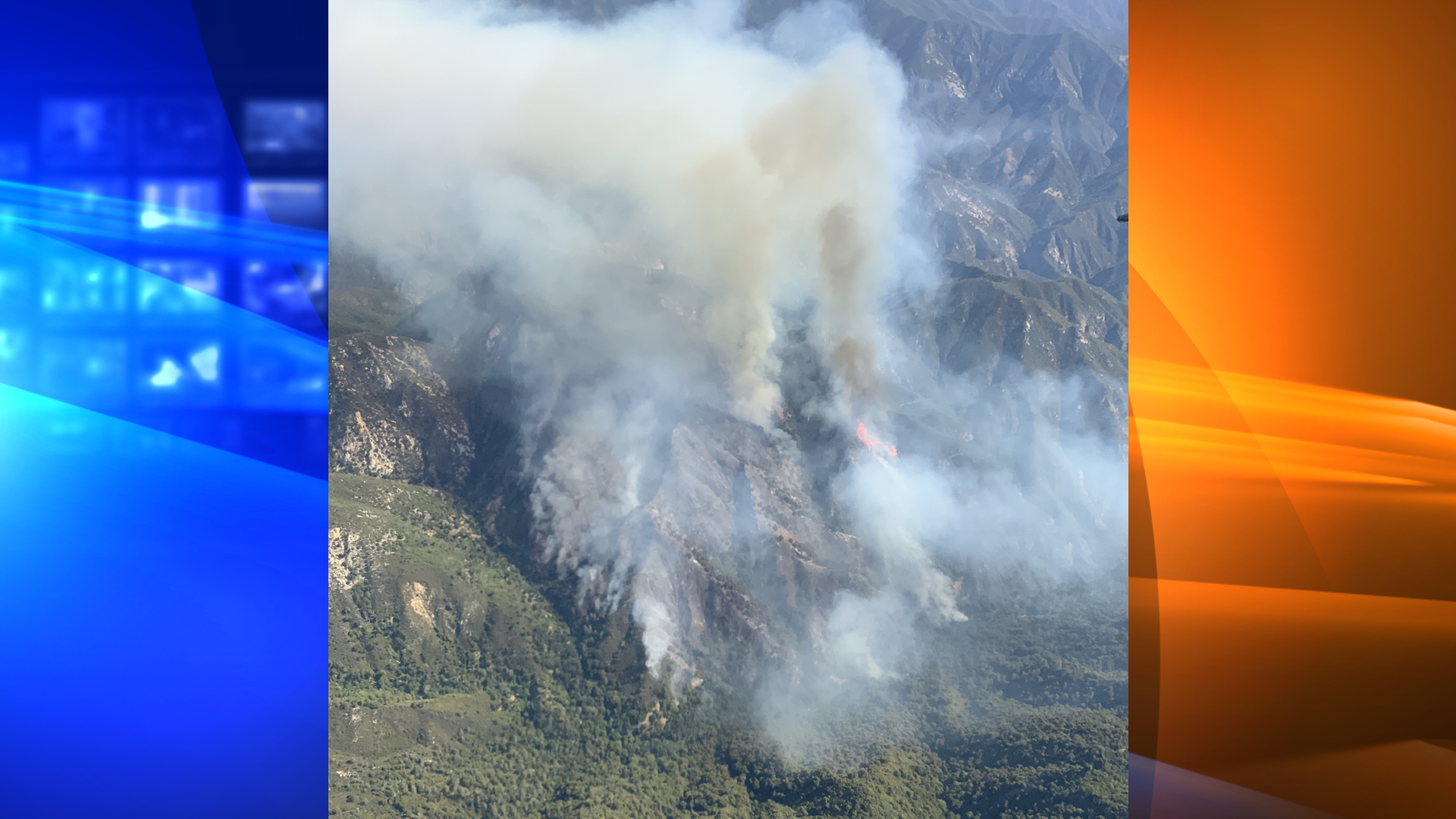 The Willow Fire in Los Padres National Forest is seen in a photo released June 18, 2021, by the U.S. Forest Service.